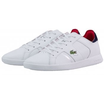 Lacoste Novas SMA White / Navy / Red (N200d) Mens Trainers