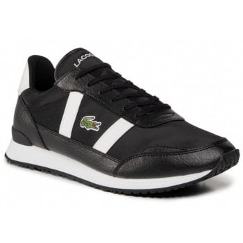 Lacoste Partner Black / Off White (Z30) Textile / Leather Mens Trainers