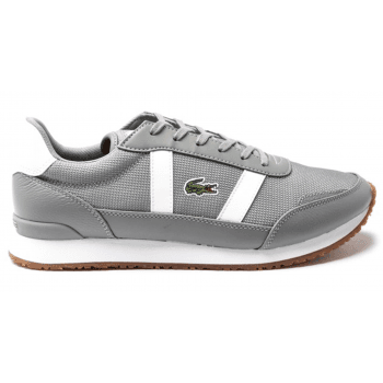 Lacoste Partner Grey / White (Z-C) Textile / Leather Mens Trainers