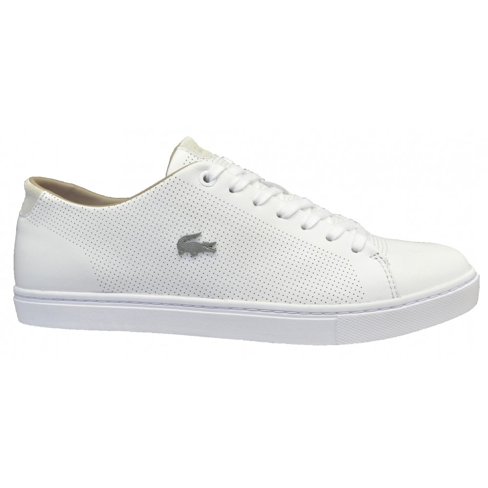 45fc117be9499 ... Lacoste Showcourt SRM Leather   Suede White (G29) Mens Trainers ...