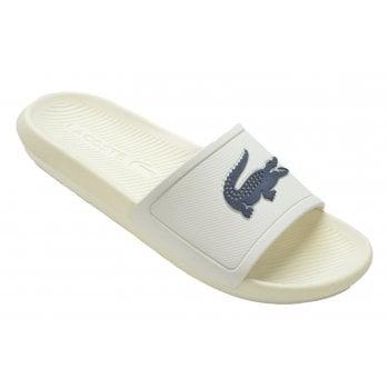 Lacoste Slide 219 1 CMA Off White / Navy (Z101) 7-37CMA0022WN1 Mens Slide