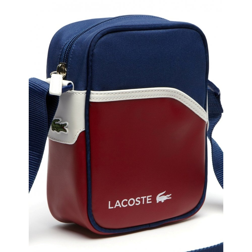 c44fd7b71 Lacoste Ultimum Chili Pepper Estate Blue   White (A50) NH0862UT-720 Camera    Man Bag