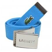 Lacoste Woven Webbing Aqua RC0012-HZBA Mens Belts
