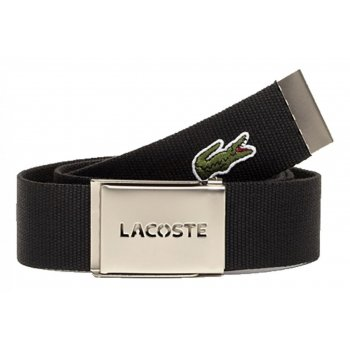 Lacoste Woven Webbing Black Mens Belts