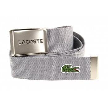 Lacoste Woven Webbing Grey RC0012-HKC8 Mens Belts