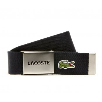 Lacoste Woven Webbing Navy RC1287-H166 Mens Belts