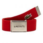 Lacoste Woven Webbing Red Mens Belts
