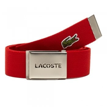 Lacoste Woven Webbing Red RC0012-H240 Mens Belts