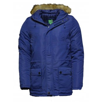 Le Breve Lee Breve Freebird Parker Navy Mens (A34) Fur Hooded Jackets