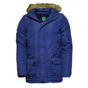 Lee Breve Freebird Parker Navy Mens (A34) Fur Hooded Jackets