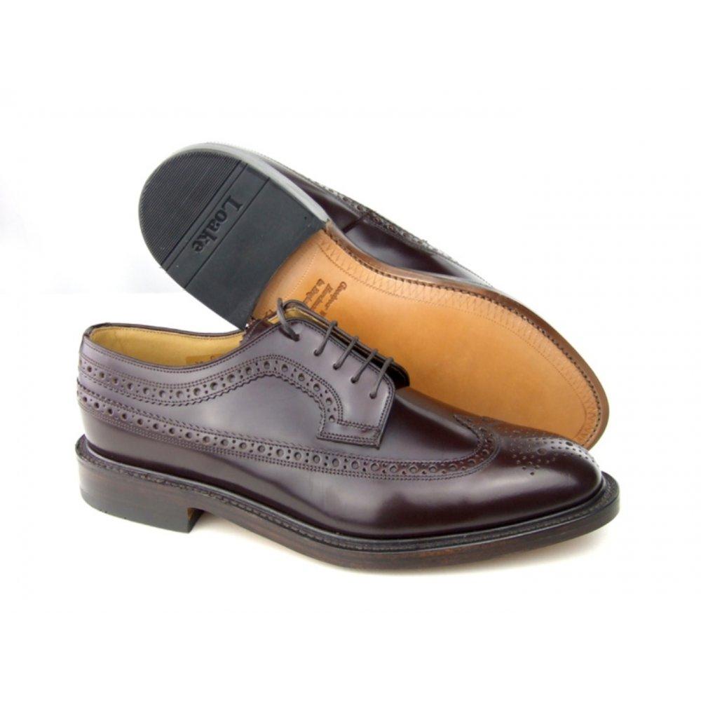 Mens Oxblood Brogue Shoes