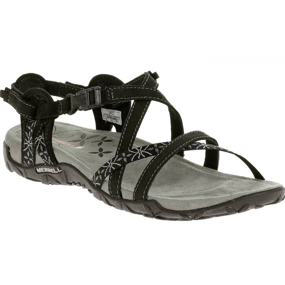 17dce634f3f5 Merrell Merrell Terran Lattice Black (Z25) J22234 Ladies Sandal ...