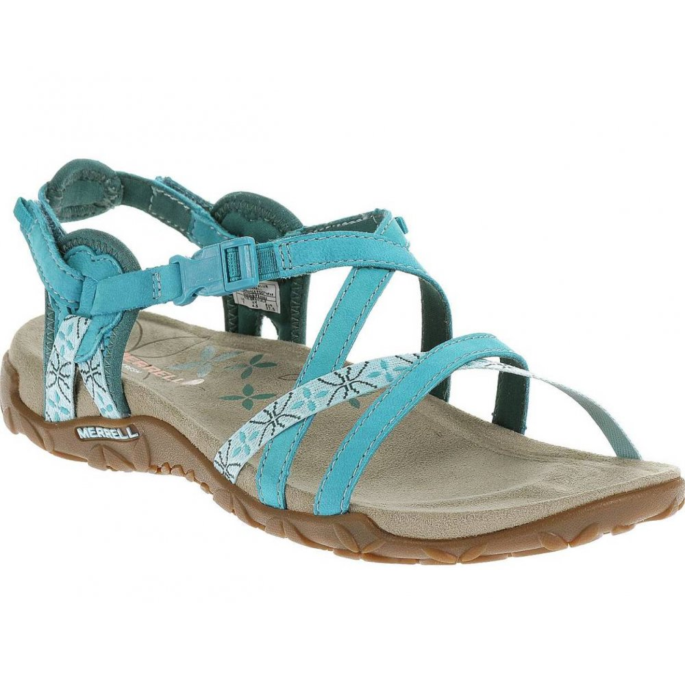49a7176fa4c10a Merrell Merrell Terran Lattice Turquoise Blue (Z2) J22230 Ladies ...