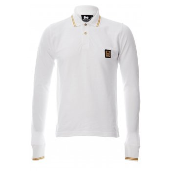Money Purity Badge PS13007 Classic White (A6) Mens  L/S Polo Shirts