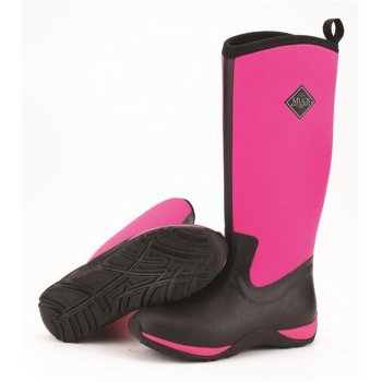 Muck The Original Muck Arctic Adventure Black / Hot Pink (N17b) Womens Wellington Winter Boots