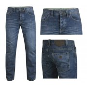 Nicholas Deakins Hulk Wash Denim Regular Fit Mens Jeans