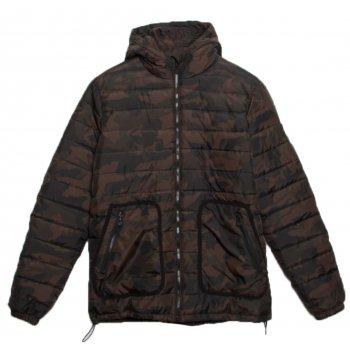 Nicholas Deakins Lone Camo (NKDTM10200) Mens Puffa Hoodie Jacket