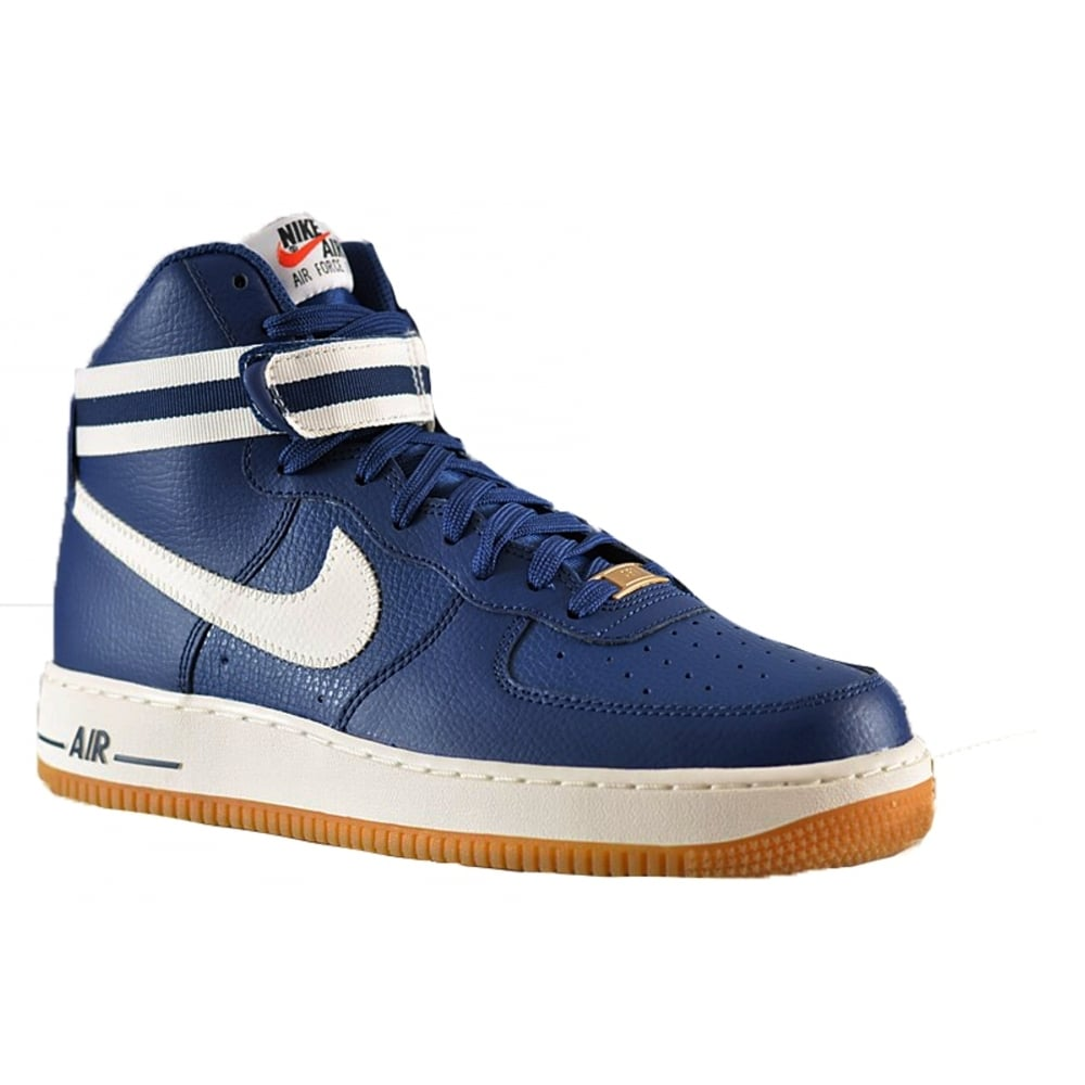 nike nike air force 1 mid 39 07 cstl blue b18 315121 410 mens trainers nike from pure brands uk uk. Black Bedroom Furniture Sets. Home Design Ideas