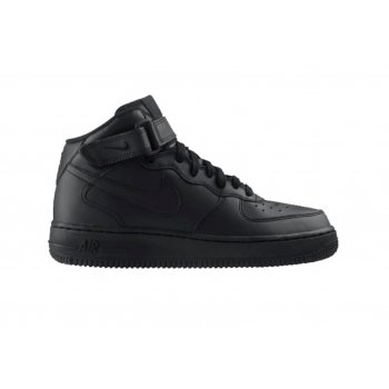 Nike Air Force Mid 1 Older Boys Black (SC-b5)  314195-004 Trainers