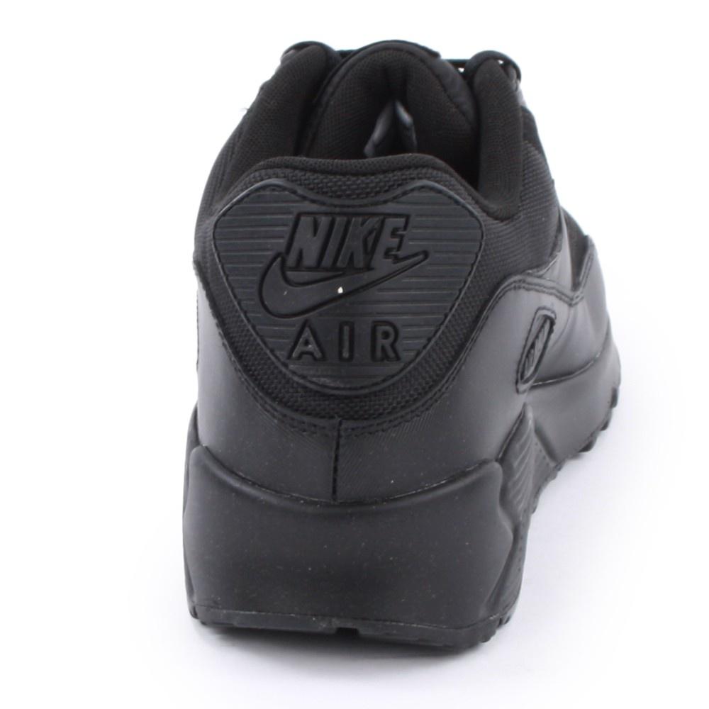 official photos 54d01 e8ab6 ... Nike Air Max 90 Essential Black   Black (Z23) 537384-090 Mens Trainers.  ‹