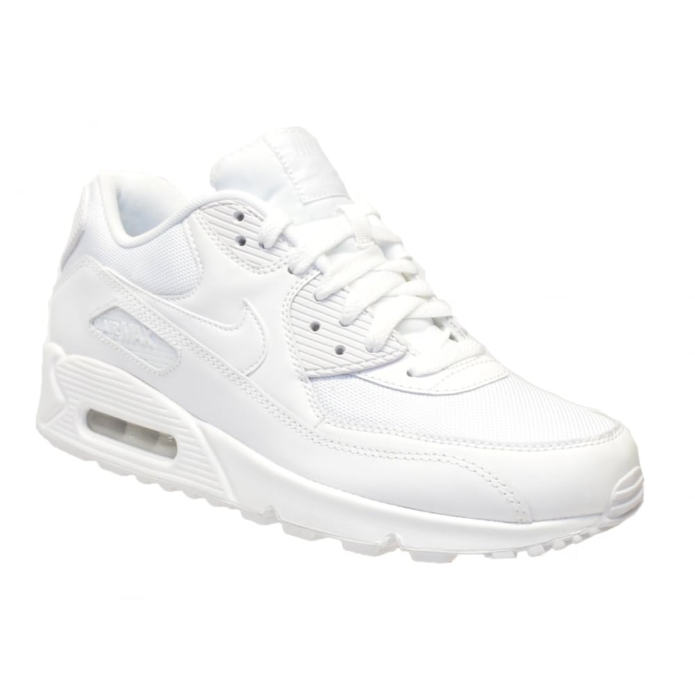 49755d91143 Nike Nike Air Max 90 Essential White   White (N85) 537384-111 Mens ...