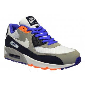 Nike Air Max 90 Mesh (GS) Obsdn / White / Violet (N16) 724824-400 Older Boys Trainers