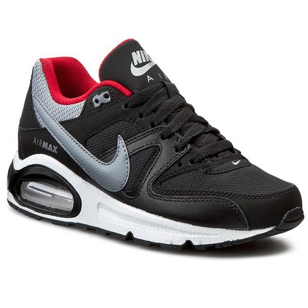 nike nike air max command gs black cool grey red. Black Bedroom Furniture Sets. Home Design Ideas