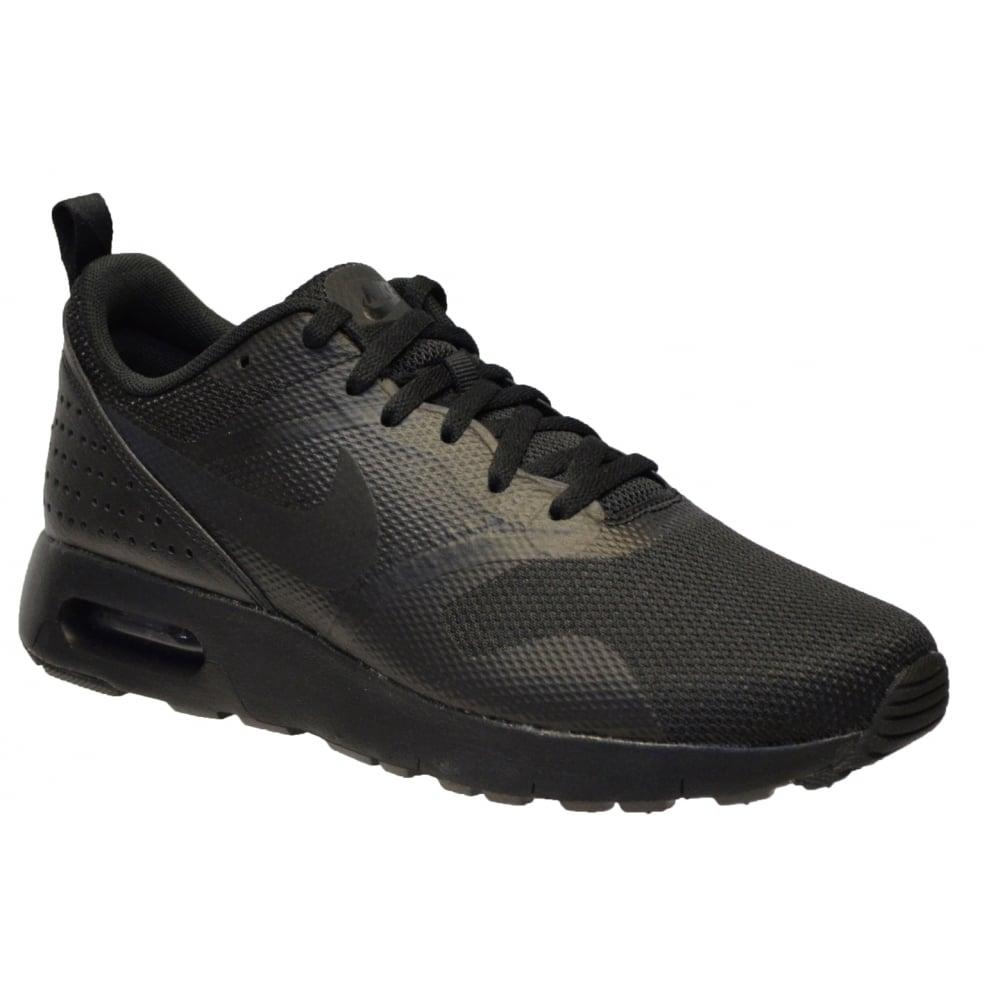 Nike Air Max Tavas Black Trainers Black Shoes For Brands Mens