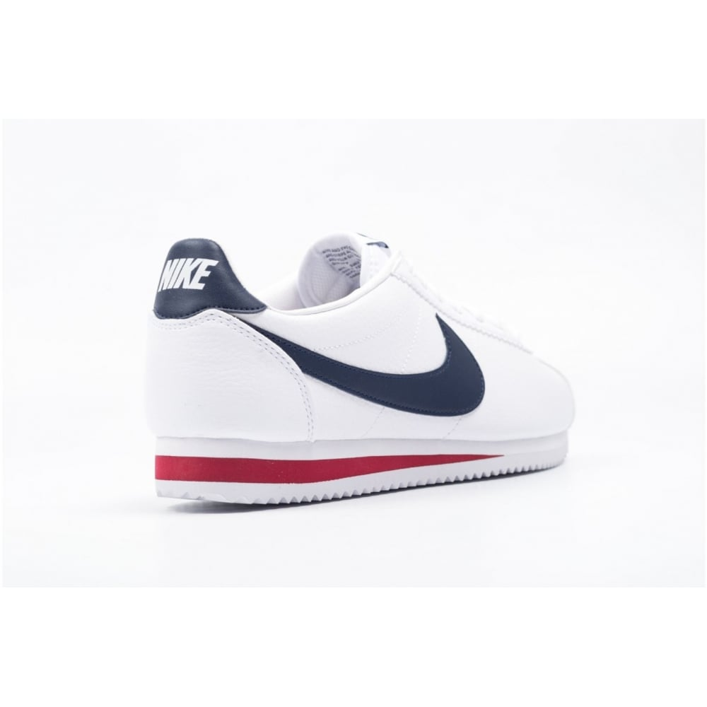 ... Nike Classic Cortez Leather White / Navy (B19) 749571-146 Mens Trainers.  ‹