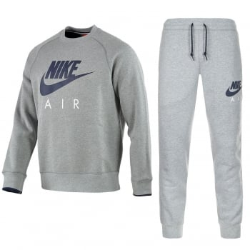 Nike Crew Neck Fleece Marl Grey (Z12) 727385-063 Mens Jog Tracksuits