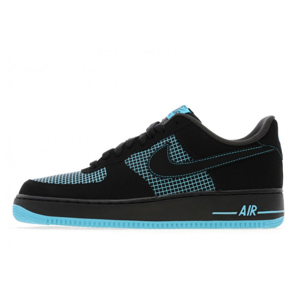 2acd01116af1e9 Nike Nike Air Force 1 Lo Black   Gamma Blue (Z20) Mens Trainers ...