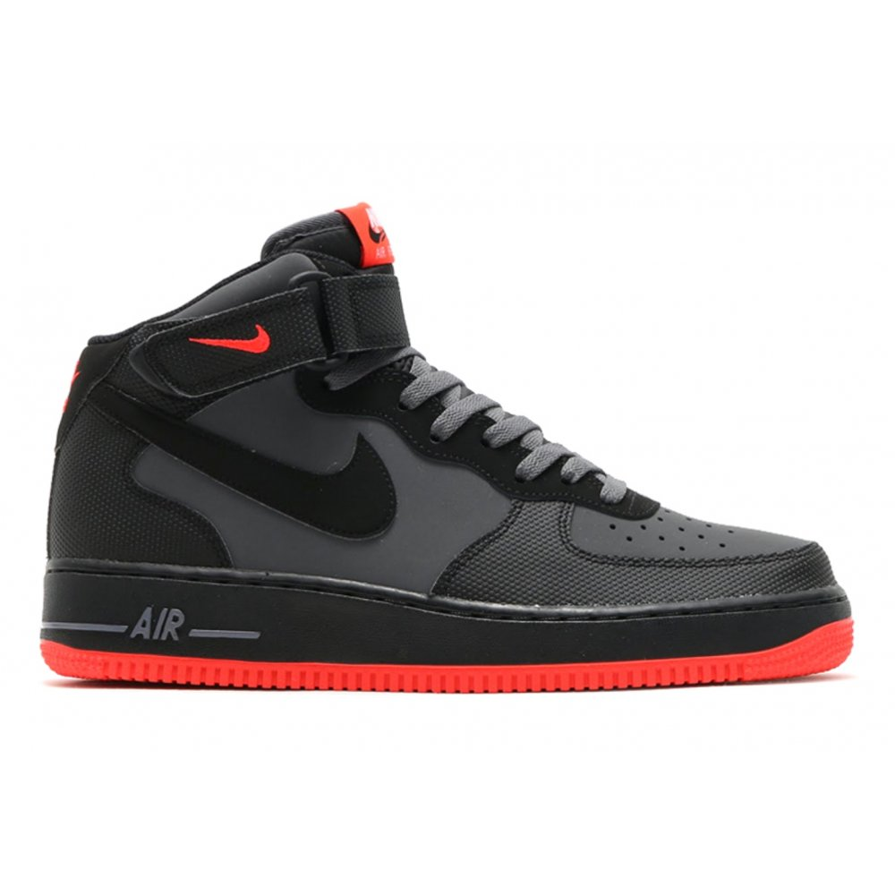 nike nike air force 1 mid 39 07 dk grey black bright. Black Bedroom Furniture Sets. Home Design Ideas