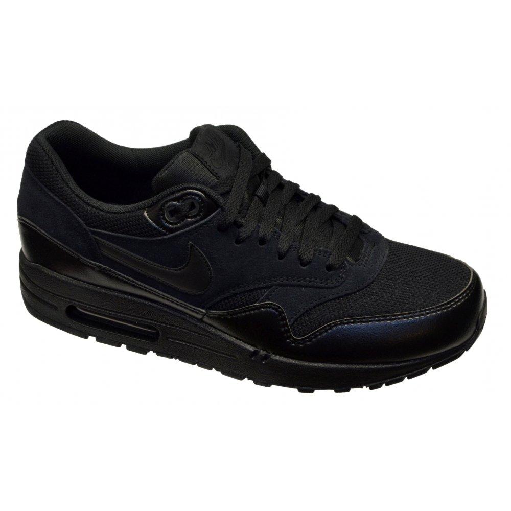 half off f947d f2eeb Nike Air Max 1 Essential Black   Black (B15) 537383-020 Mens Trainers
