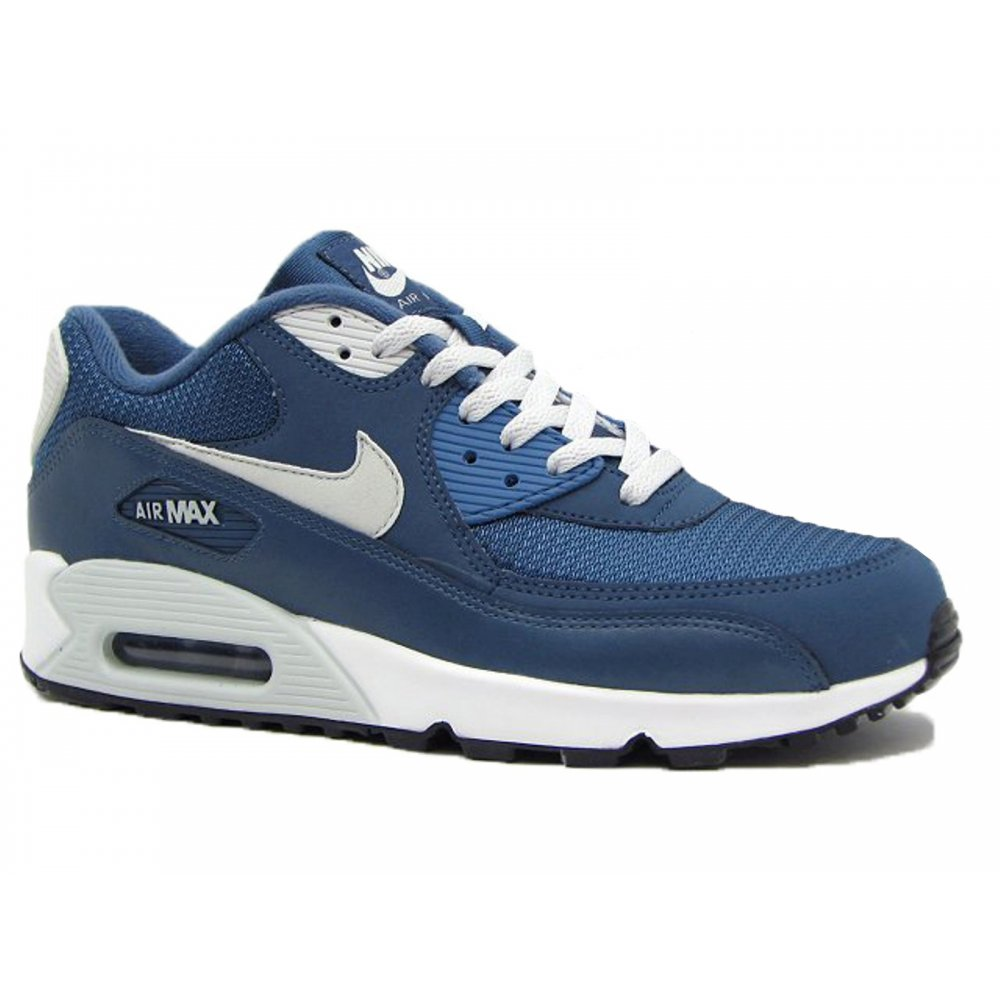 nike nike air max 90 essential blue slate lt base grey sail t3b mens trainers nike. Black Bedroom Furniture Sets. Home Design Ideas