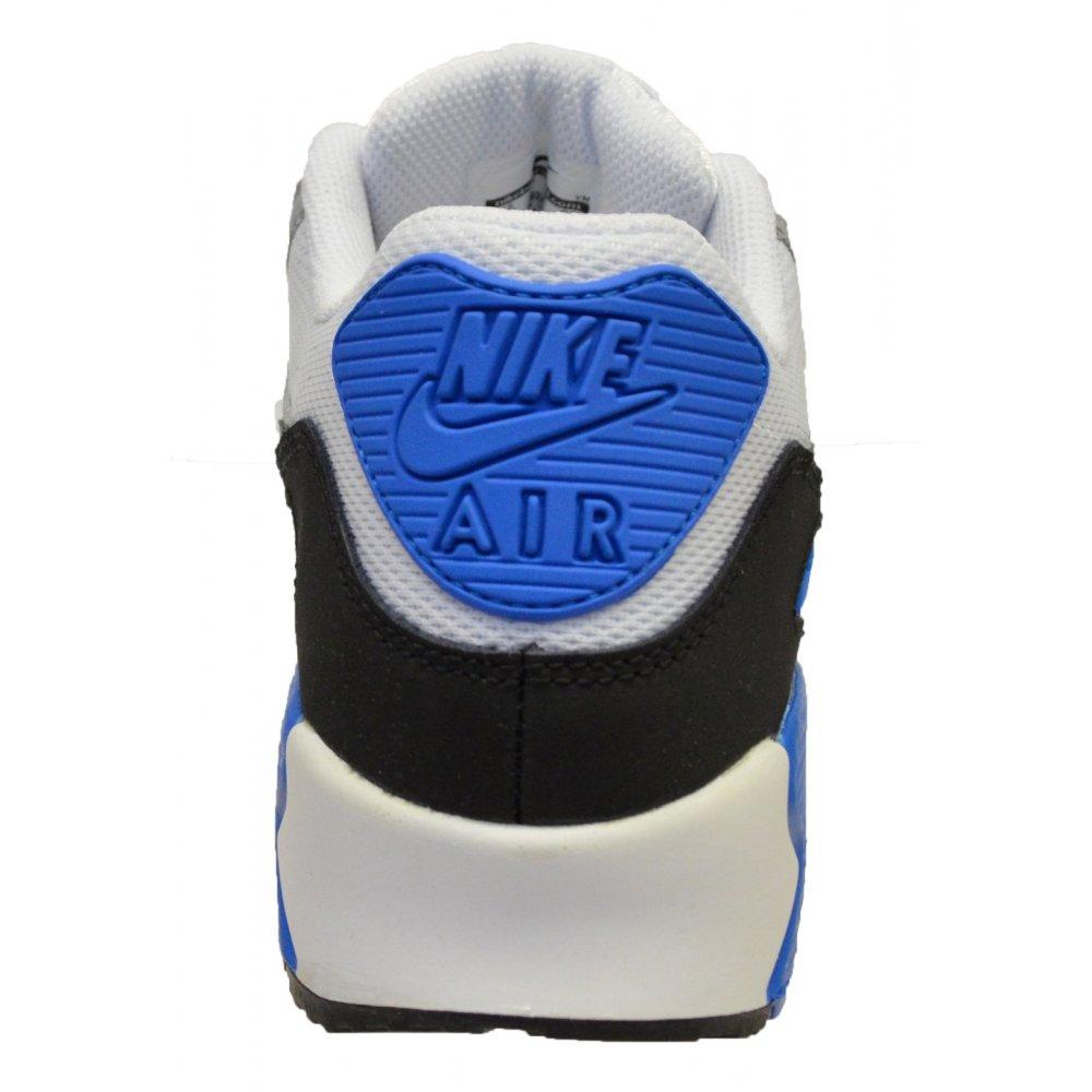 low priced 7770b 9d102 ... Nike Air Max 90 Mesh (GS) White   Cool Grey-Blue (N7a. ‹