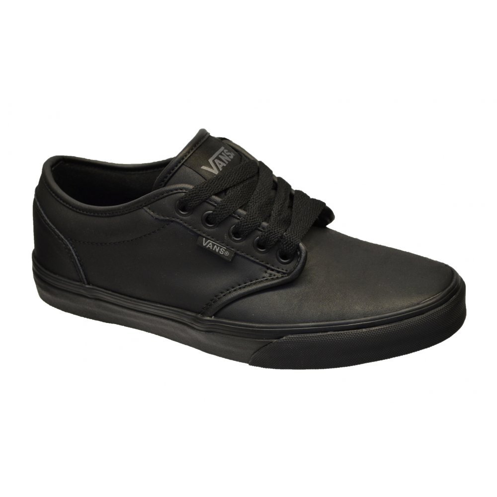 Details about Vans Atwood Leather Black / Black (N76) Mens Trainers ...