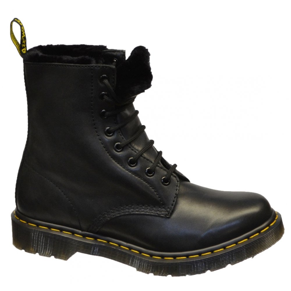 dr martens serena faux fur lined womens boots all sizes in. Black Bedroom Furniture Sets. Home Design Ideas