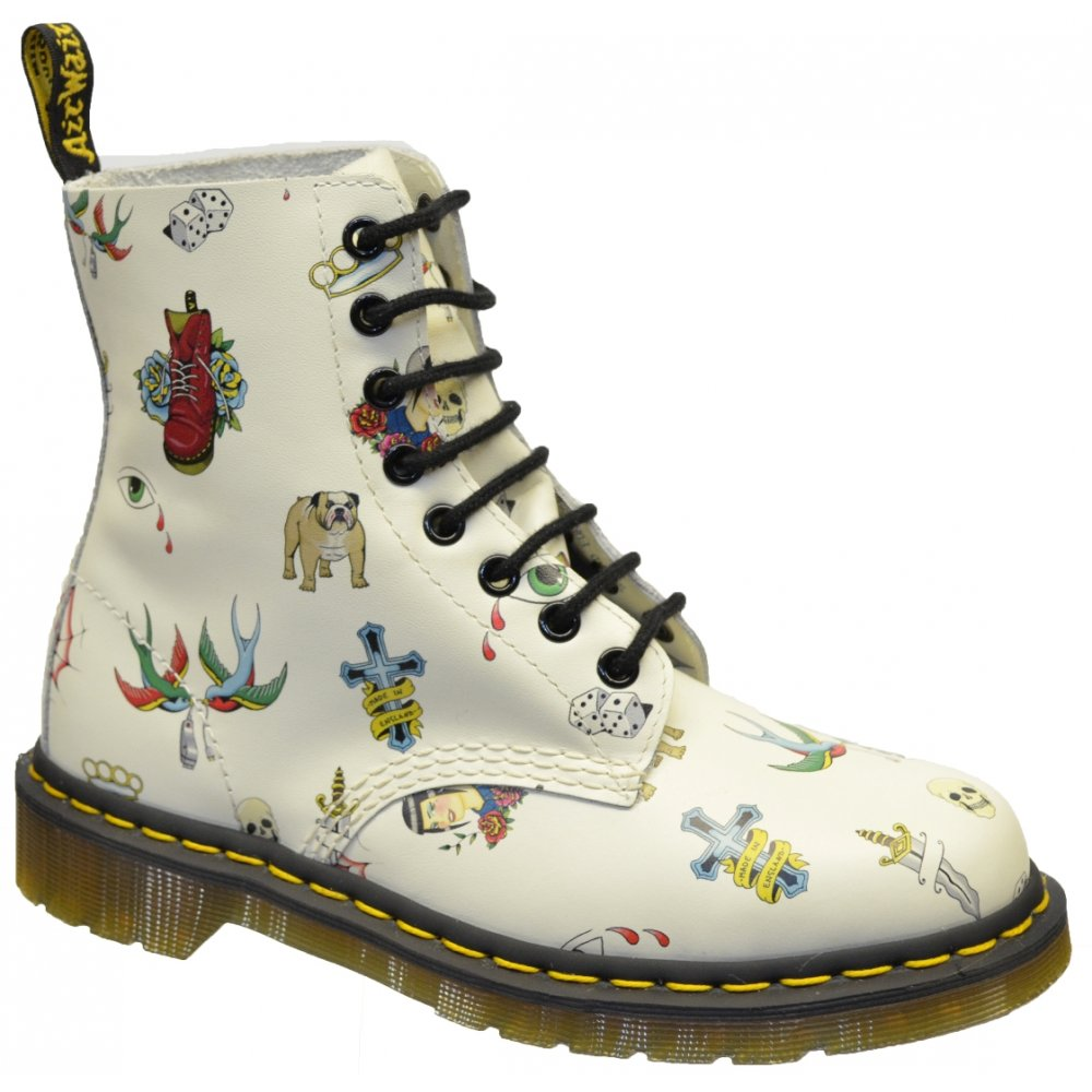 Dr Martens Pascal Skins Tattoo Womens Boots All Sizes in various ...