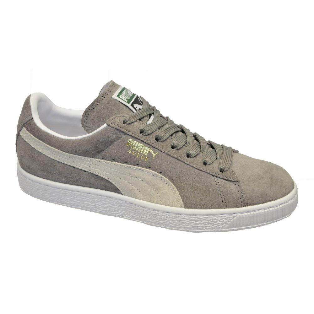 PUMA Suede Classic Steeple Grey - White (N37) 352634-66 Mens Trainers ...