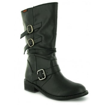Rocketdog Rocket Dog Chainganggr Mid Calf Black Womens Boots