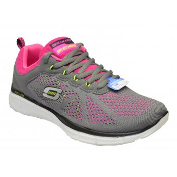 Skechers Equalizer New Miestone Charcoal / Pink (SC7) 11897/CCPK Womens Trainers