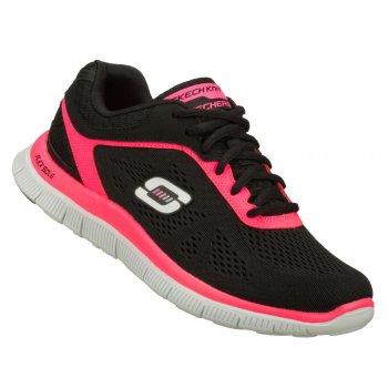 Skechers Flex Appeal Black / Hot Pink (N65) 11728/BKHP Womens Trainers (UK 3)