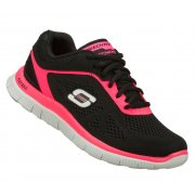 Skechers Flex Appeal Love Your Style Black / Hot Pink (N65) 11728/BKHP Womens Trainers