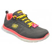 Skechers Flex Appeal Sweet Spot Charcoal / Hot Pink (K7) 11729/CCHP Womens Trainers