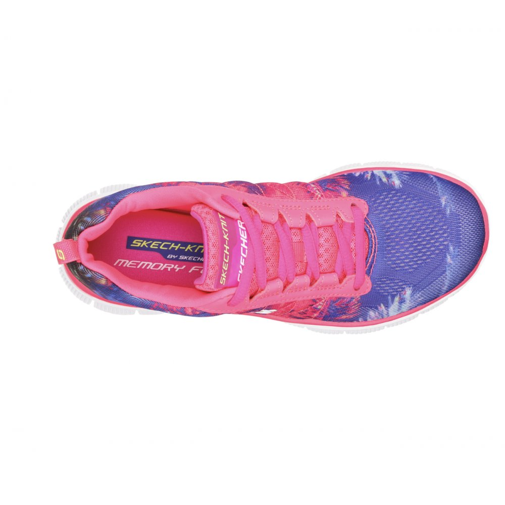 ... Skechers Flex Trade Winds Coral (N107) 12056/CRL Womens Trainers ...
