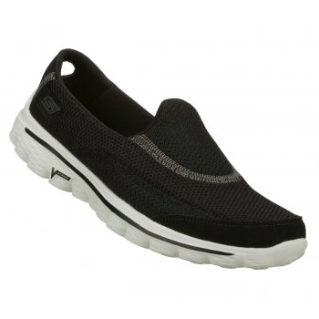 Skechers Go Walk 2 Black / White (SC-b2) 13590 Womens Slip On