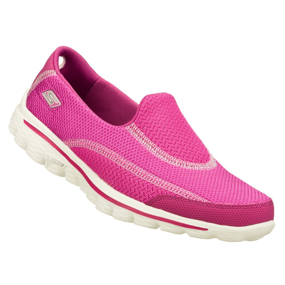 Skechers Go Walk 2 Spark Raspberry (N53 / Z-19) 13591 Womens Slip ...