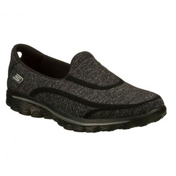 Skechers Go Walk 2 Super Sock Black (Z163) 13955 Womens Slip On