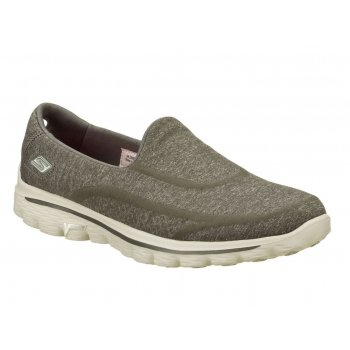 Skechers Go Walk 2 Super Sock Charcoal (Z30) 13955/CHAR Womens Slip On