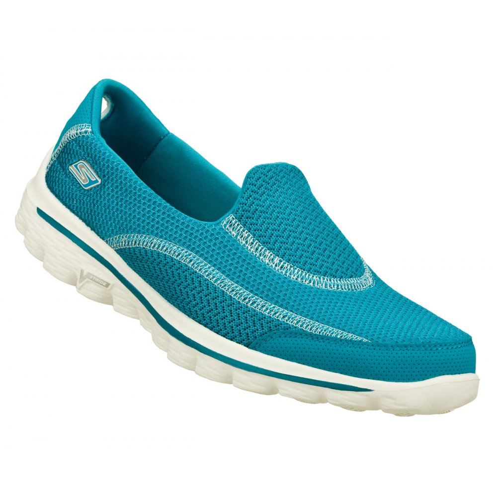 8840f24ffd852 Skechers Skechers Go Walk 2 Turq (N45 / Z109) Womens Slip On ...
